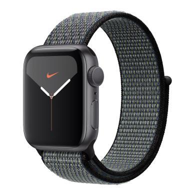 Apple Watch Series 4 Nike+ aluminio gris 40mm con pulsera deportiva Loop negro (GPS) gris - nuevo
