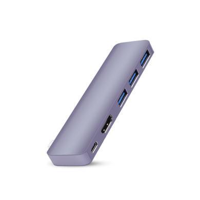 USB-C Hub 5 in 1 -ID17254 grau - neu