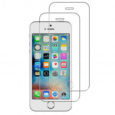 [2 Stück] Panzerglas für Apple iPhone SE / 5 / 5S / 5C -ID17597 durchsichtig - neu