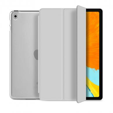 "Flip Cover für Apple iPad Pro 2017 10,5"" / iPad Air 3 2019 10,5"" -ID17610 grau/durchsichtig - neu"