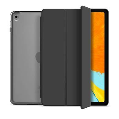 """Flip Cover für Apple iPad Pro 2017 10,5"""" / iPad Air 3 2019 10,5"""" -ID17611 schwarz/durchsichtig - neu"""