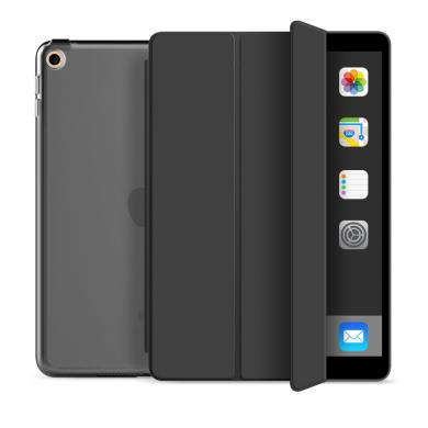 Flip Cover für Apple iPad 2018 -ID17613 schwarz/durchsichtig - neu