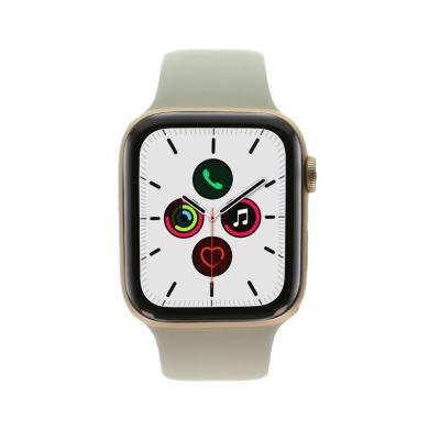 Apple Watch Series 5 Aluminiumgehäuse gold 44mm mit Sportarmband stein (GPS) aluminium gold