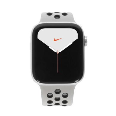 Apple Watch Series 5 Nike Aluminiumgehäuse silber 44mm mit Sportarmband desert sand black (GPS) silber
