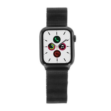 Apple Watch Series 5 Aluminiumgehäuse grau 44mm mit Milanaise Armband spaceschwarz (GPS) grau