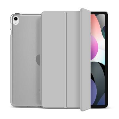 "Flip Cover für Apple iPad Air 2020 10,9"" -ID17986 grau/durchsichtig - neu"