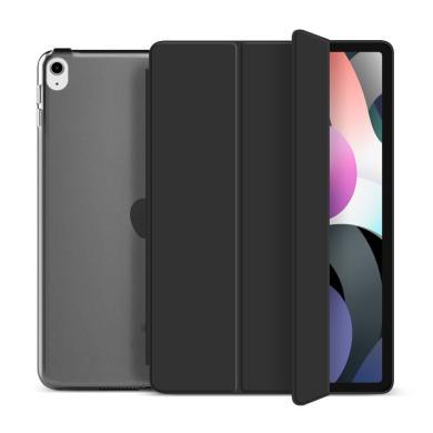 """Flip Cover für Apple iPad Air 2020 10,9"""" -ID17987 schwarz/durchsichtig - neu"""