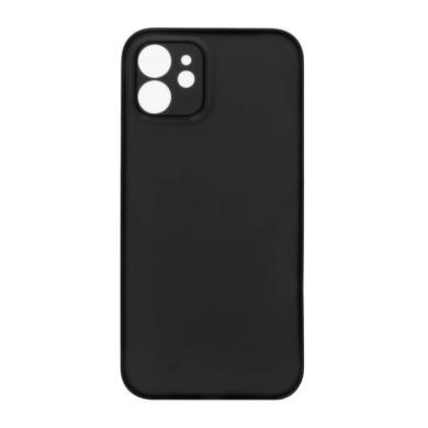Hard Case für Apple iPhone 12 -ID18144 schwarz/durchsichtig - neu
