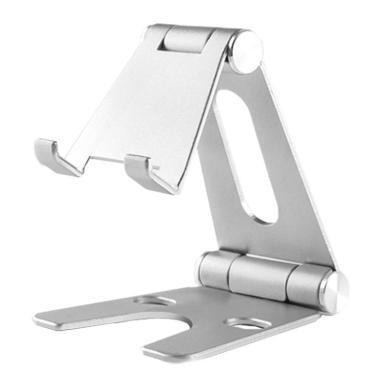 Verstellbarer Aluminium Handy / Tablet Ständer Faltbar -ID18204 silber