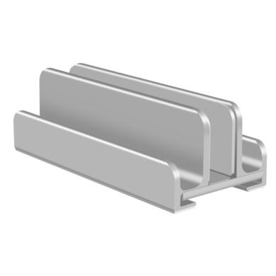 Verstellbarer Aluminium Laptop & Tablet Ständer Vertikal -ID18208 silber