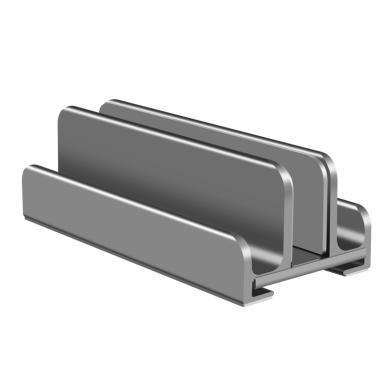 Verstellbarer Aluminium Laptop & Tablet Ständer Vertikal -ID18209 grau