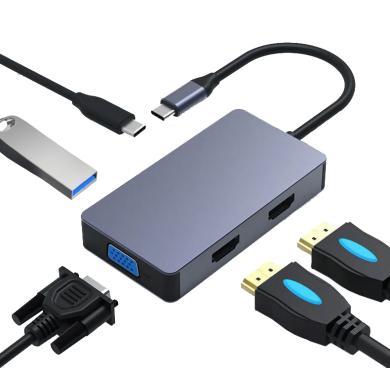 USB-C Hub 5 in 1 -ID18248 grau