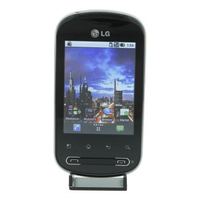LG Optimus Me P350 512 MB schwarz silber - neu