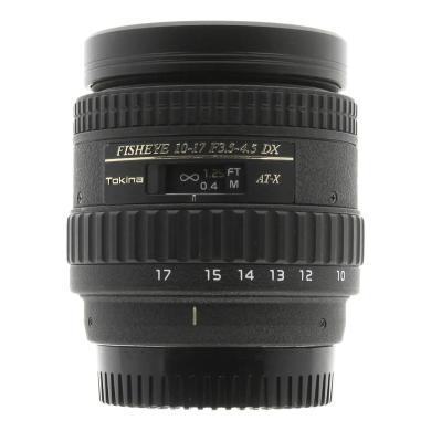 Tokina para Nikon 10-17mm 1:3.5-4.5 AT-X AF DX Fisheye negro - nuevo