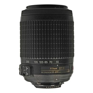 Nikon AF-S Zoom-Nikkor 55-200 mm F4-5.6 DX G SWM VR IF ED objectif noir - Neuf