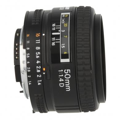 Nikon Nikkor AF 50mm f1.4 D objectif JAA011DB noir - Neuf