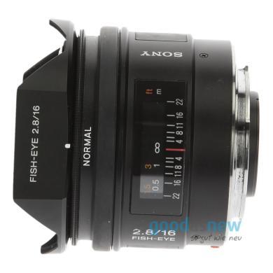 Sony 16mm 1:2.8 AF Fisheye (SAL16F28) negro - nuevo