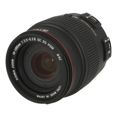 Sigma 18-200mm 1:3.5-6.3 AF DC OS pour Sigma noir - Neuf