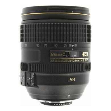Nikon 24-120mm 1:4 AF-S G ED VR NIKKOR noir - Neuf