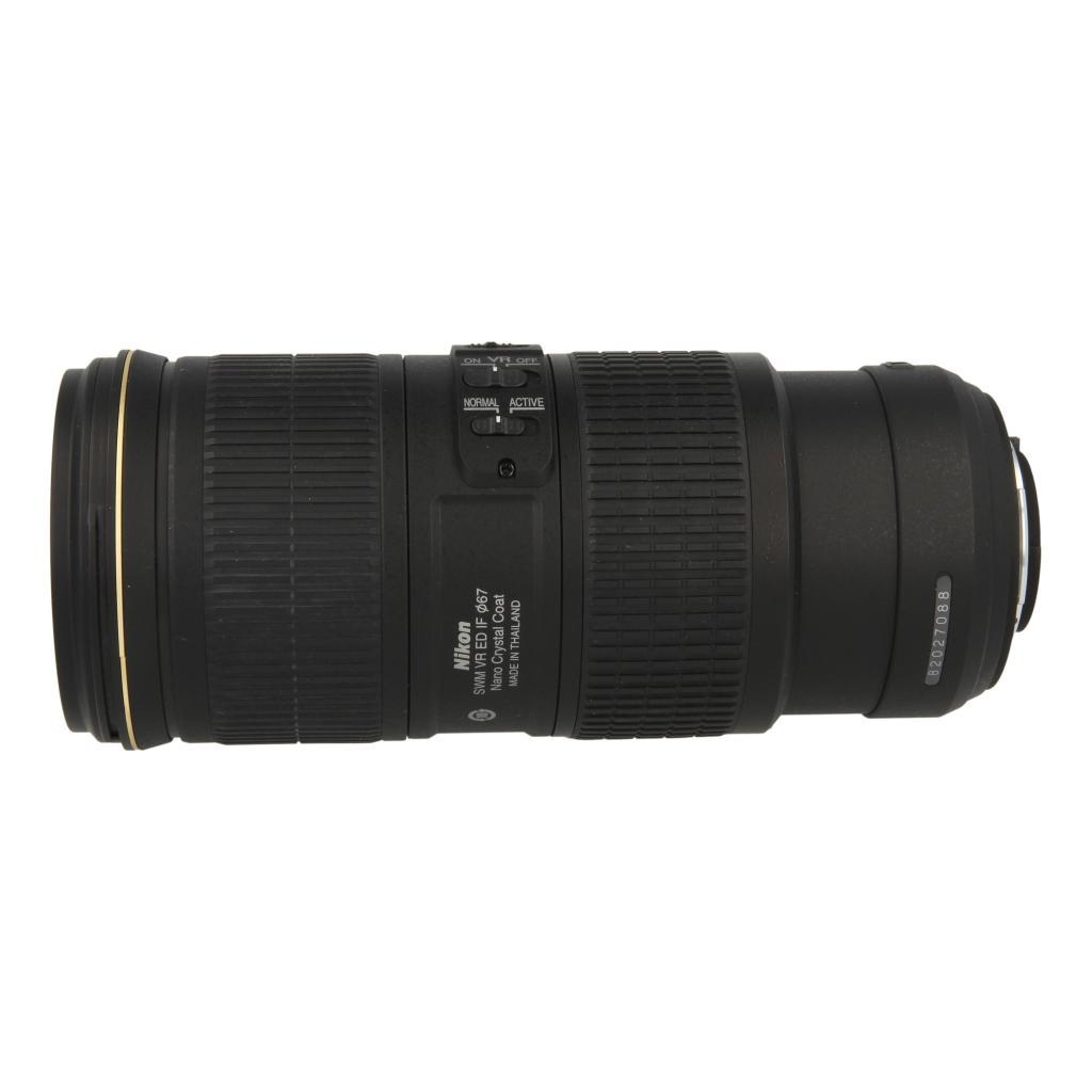 Nikon AF-S Nikkor 70-200mm 1:4G ED VR noir - Neuf