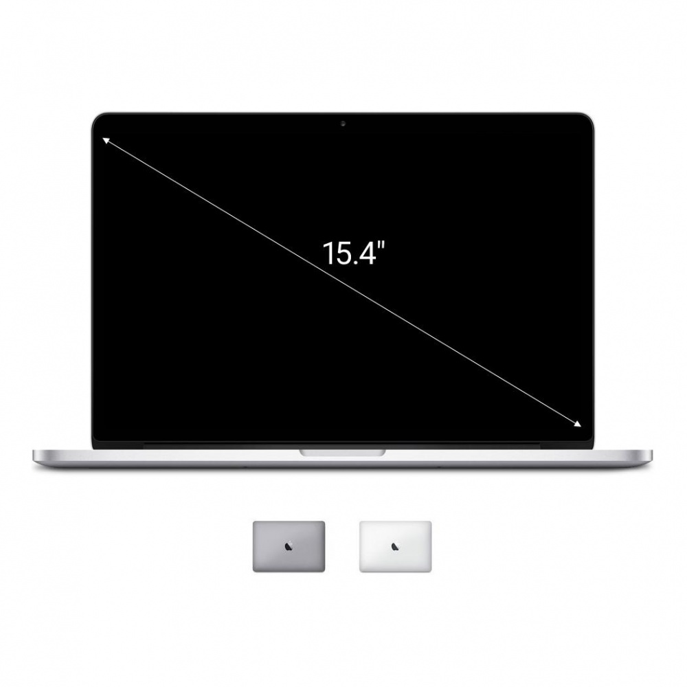 Apple Macbook Pro 2014 15,4'' mit Retina Display Intel Core i7 2,20 GHz 256 GB SSD 16 GB silber - sehr gut