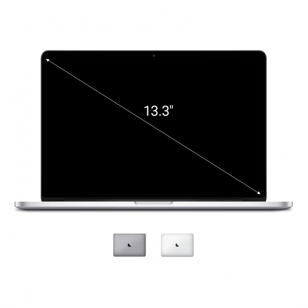 "Apple Macbook Pro 2014 13,3"" (QWERTZ) pantalla Retina Intel Core i5 2,6 GHz 128 GB SSD 8 GB plata - muy bueno"