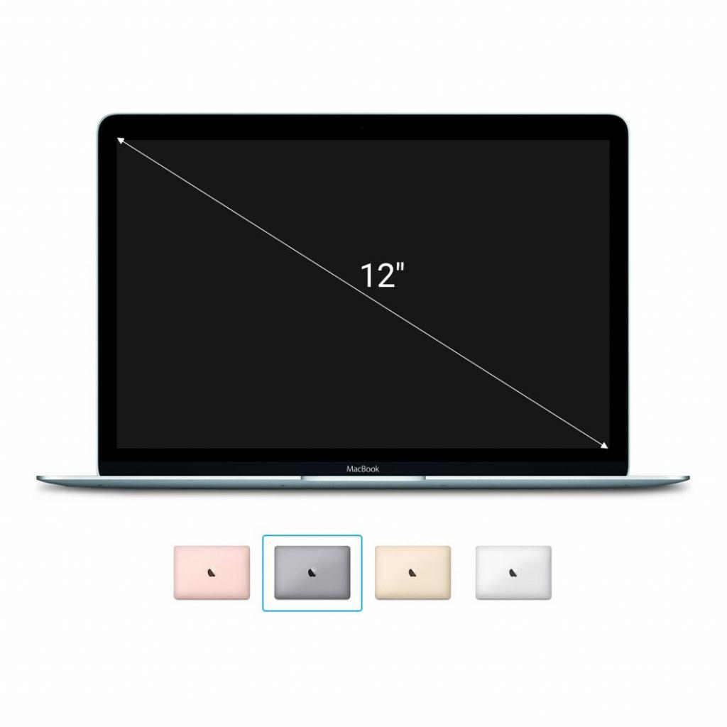 Apple Macbook 2015 12'' mit Retina Display Intel Core M 1,30 GHz 512 GB SSD 8 GB spacegrau - gut