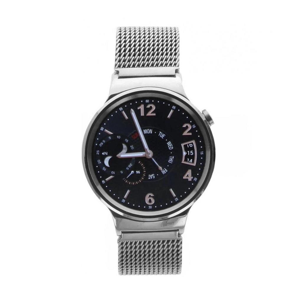 Huawei Watch mit Netzarmband silber - neu