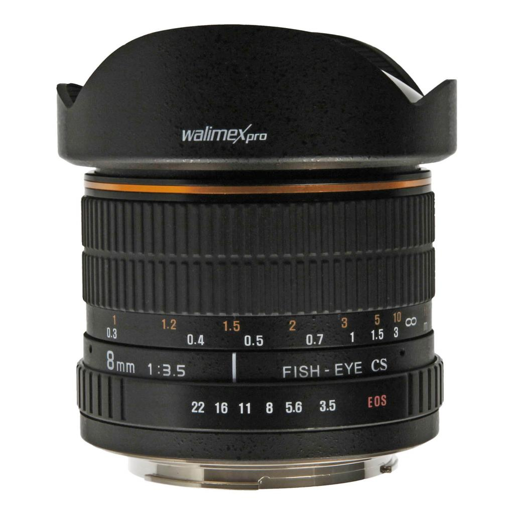 Walimex Pro pour Canon 8mm 1:3.5 Fisheye noir - Neuf