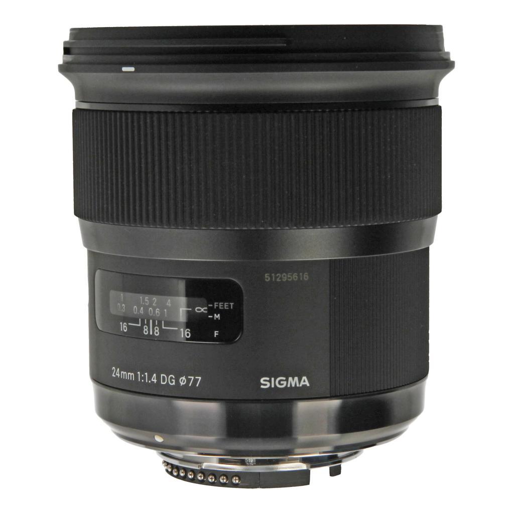 Sigma pour Nikon 24mm 1:1.4 DG HSM Art noir - Neuf