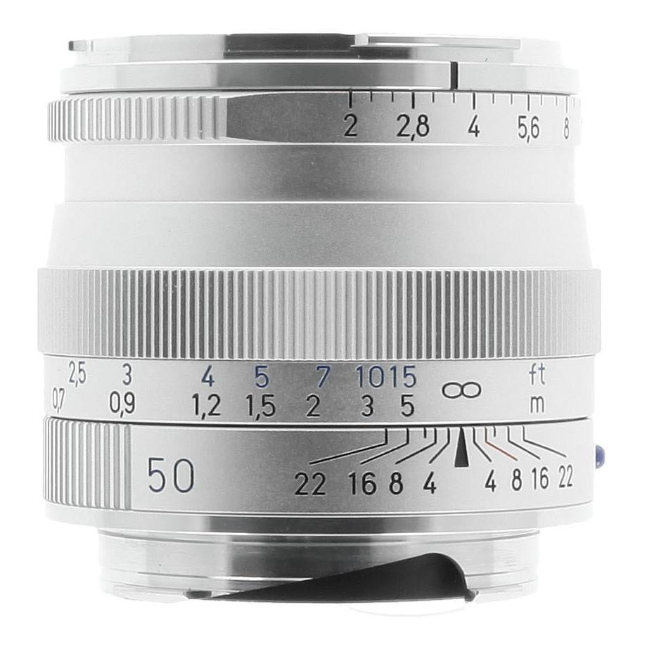 Zeiss pour Leica M 50mm 1:2.0 ZM Planar T* argent - Neuf