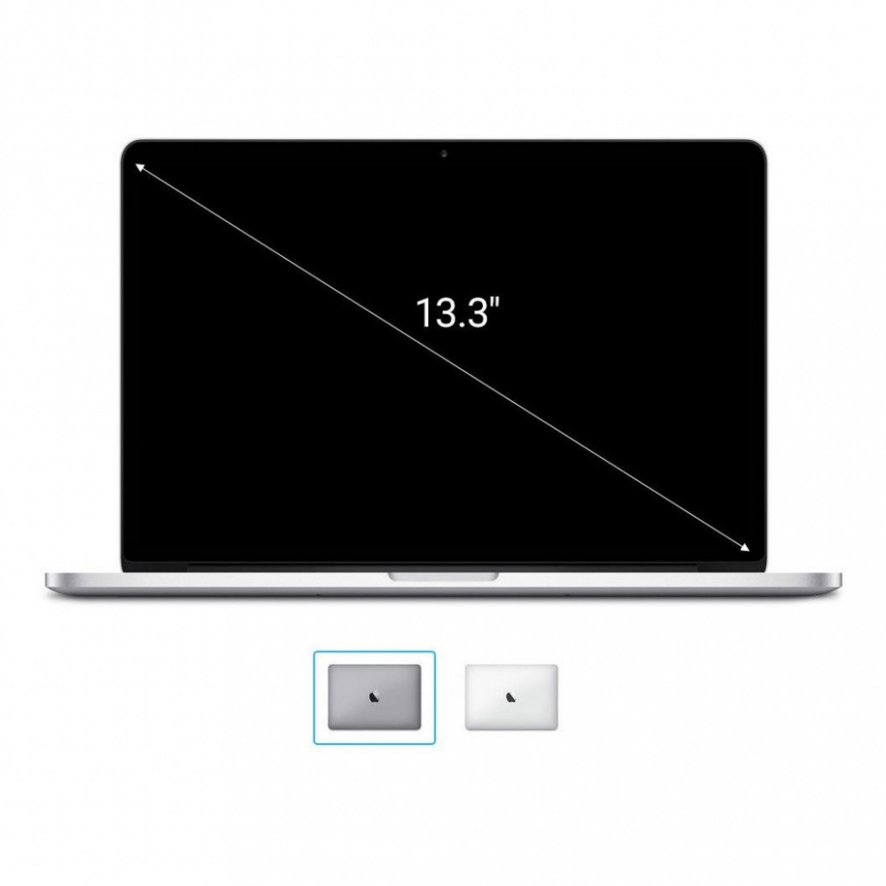 "Apple MacBook Pro 2016 13"" (QWERTZ) 2,0GHz Dual-Core Intel i5 avec 64Mo eDRAM (Turbo Boost jusqu'à 3,1GHz) 2,0GHz 256Go SSD 8Go gris sidéral - Bon"