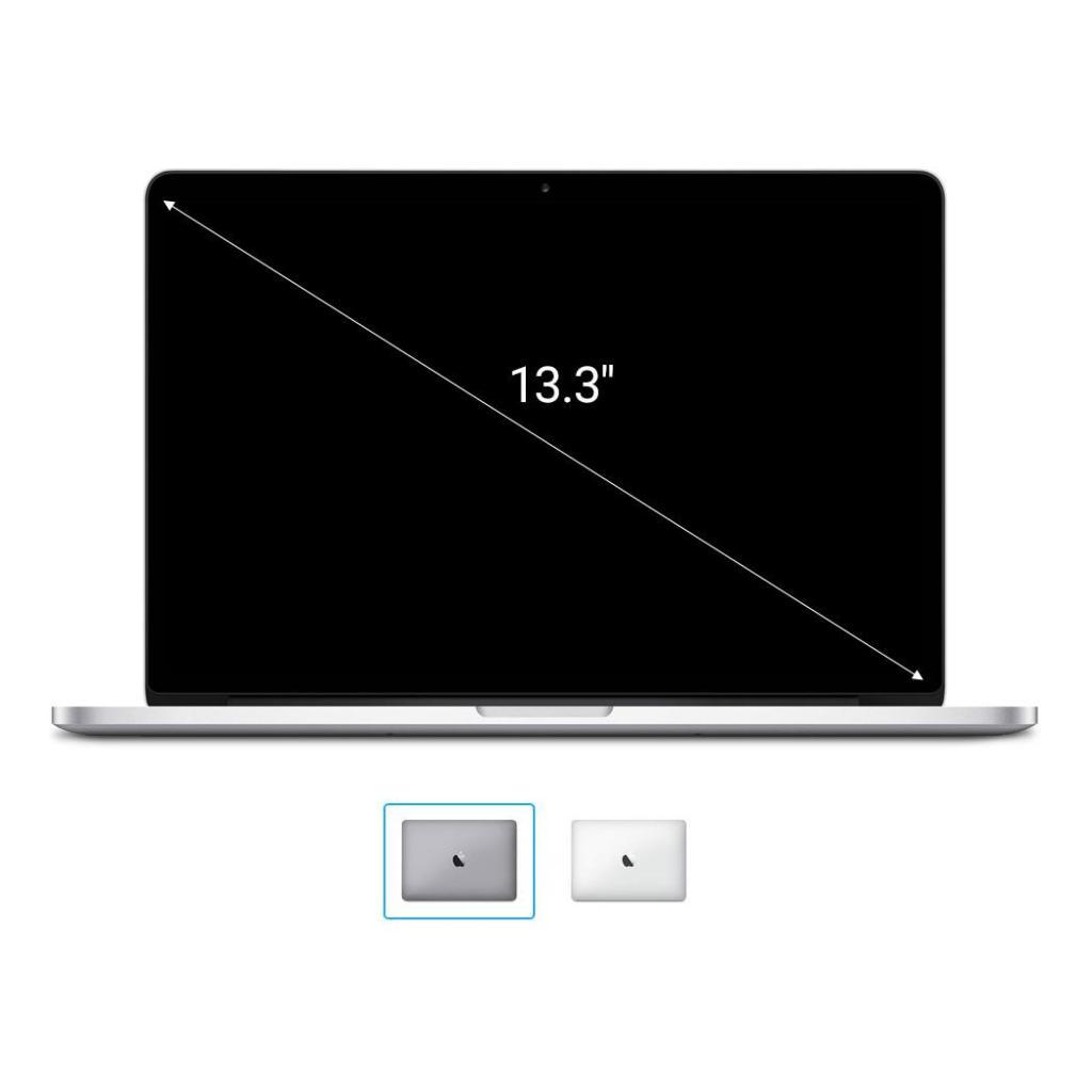 "Apple MacBook Pro 2016 13"" (QWERTZ) 2,0GHz Dual-Core Intel i5 avec 64Mo eDRAM (Turbo Boost jusqu'à 3,1GHz) 2,0GHz 256Go SSD 8Go argent - Neuf"