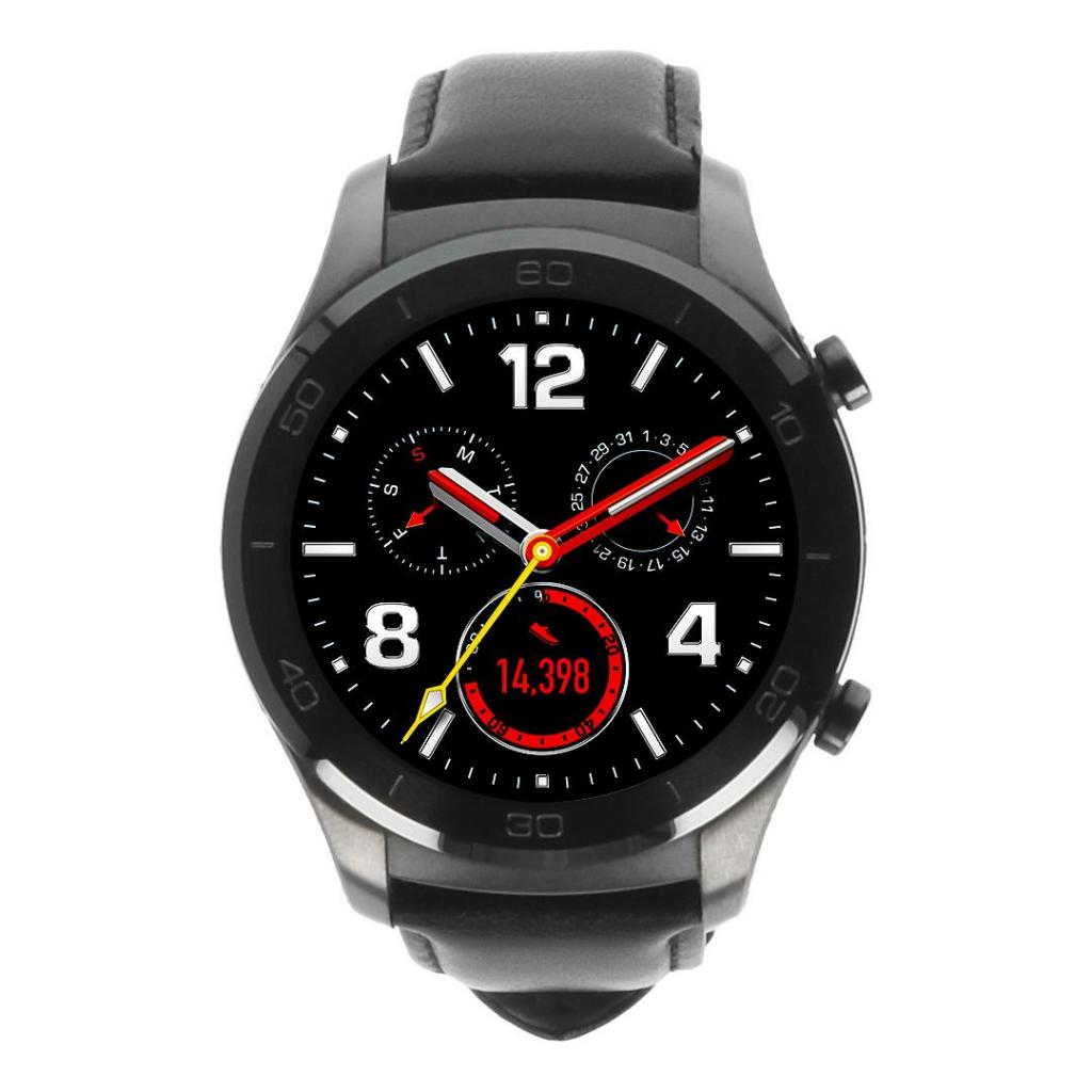 Huawei Watch 2 classic grau mit Lederarmband schwarz Grau - neu