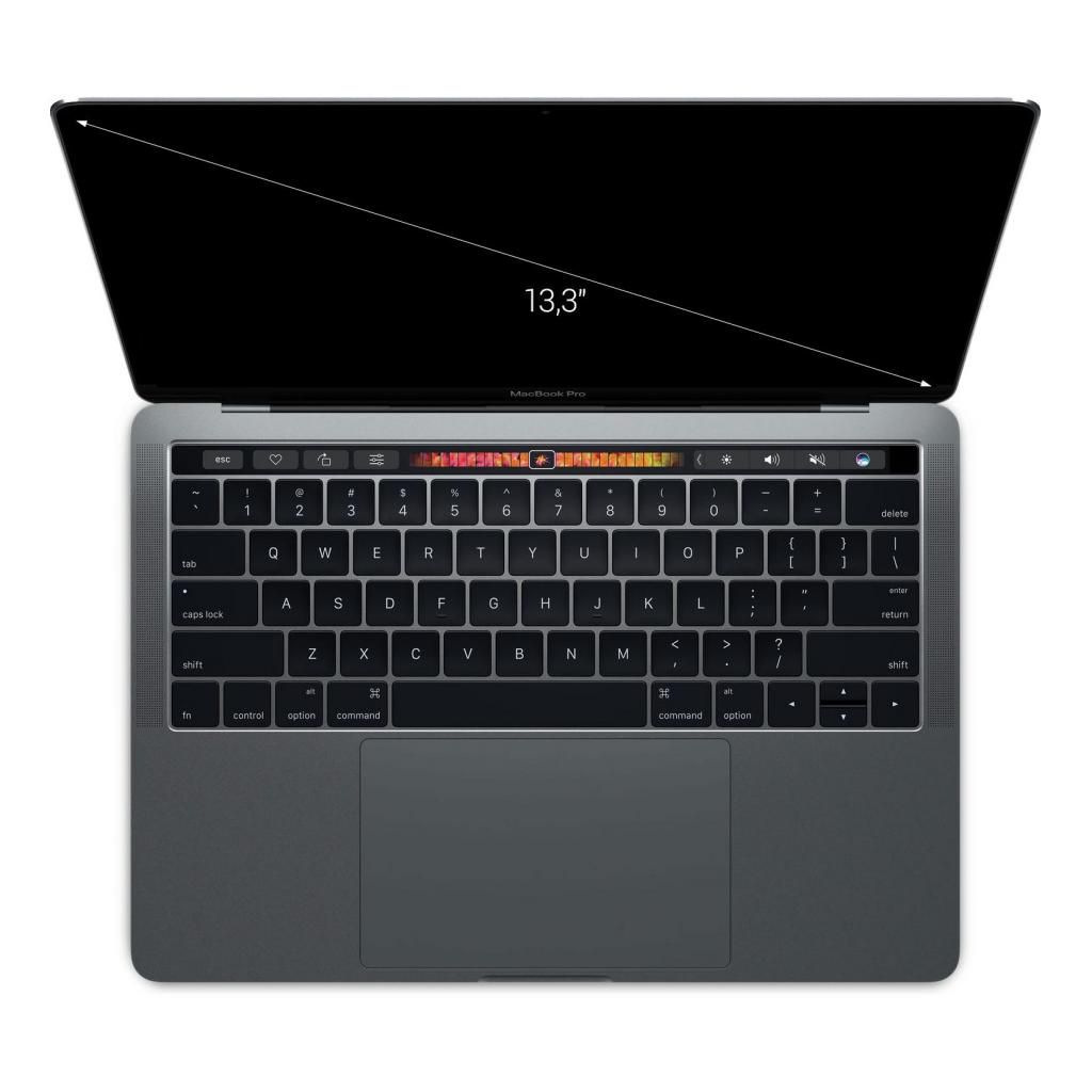 "Apple MacBook Pro 2017 13"" (QWERTZ) Touch Bar Intel Core i5 3,10 GHz 256 GB SSD 8 GB gris espacial - muy bueno"