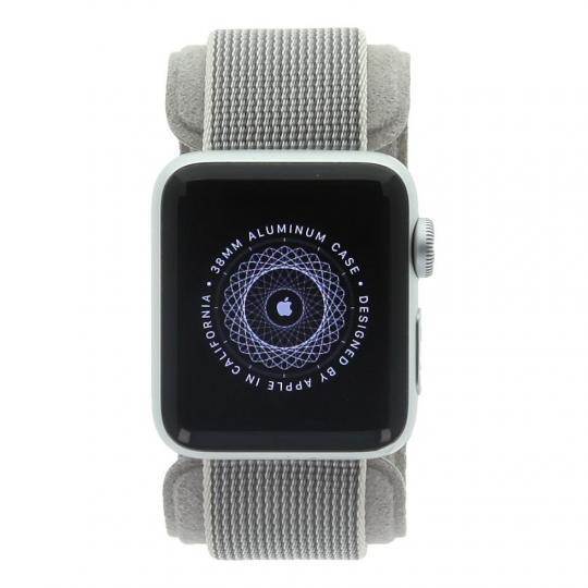 Apple Watch Series 2 - caja de aluminio en plata 38mm - correa de nailon gris - nuevo