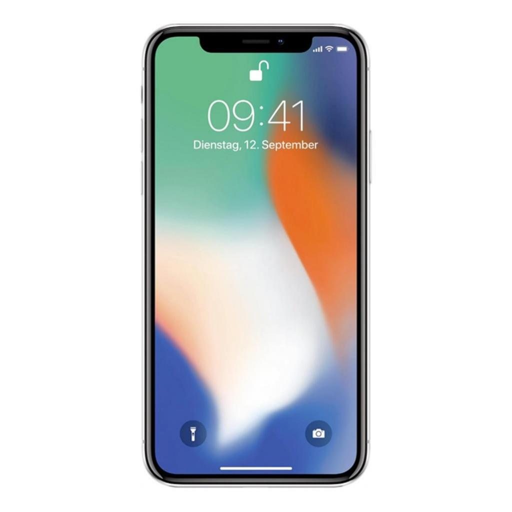 Apple iPhone X 64GB silber - gut