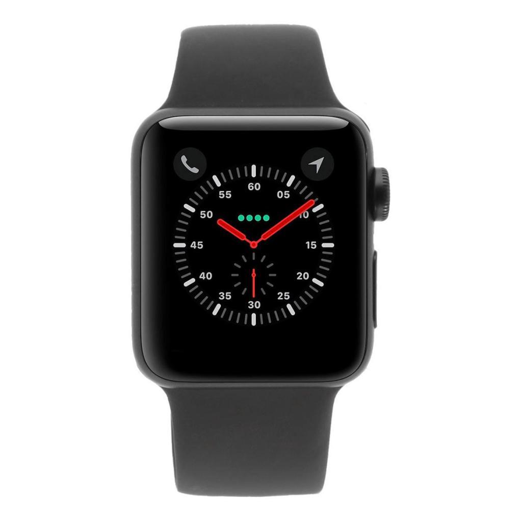 Apple Watch Series 3 Aluminiumgehäuse spacegrau 42mm mit Sportarmband grau (GPS) aluminium spacegrau - neu