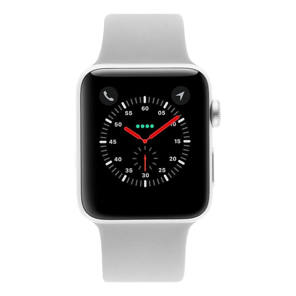 Apple Watch Series 3 Aluminiumgehäuse silber 42mm mit Sportarmband nebelgrau (GPS + Cellular) aluminium silber - neu