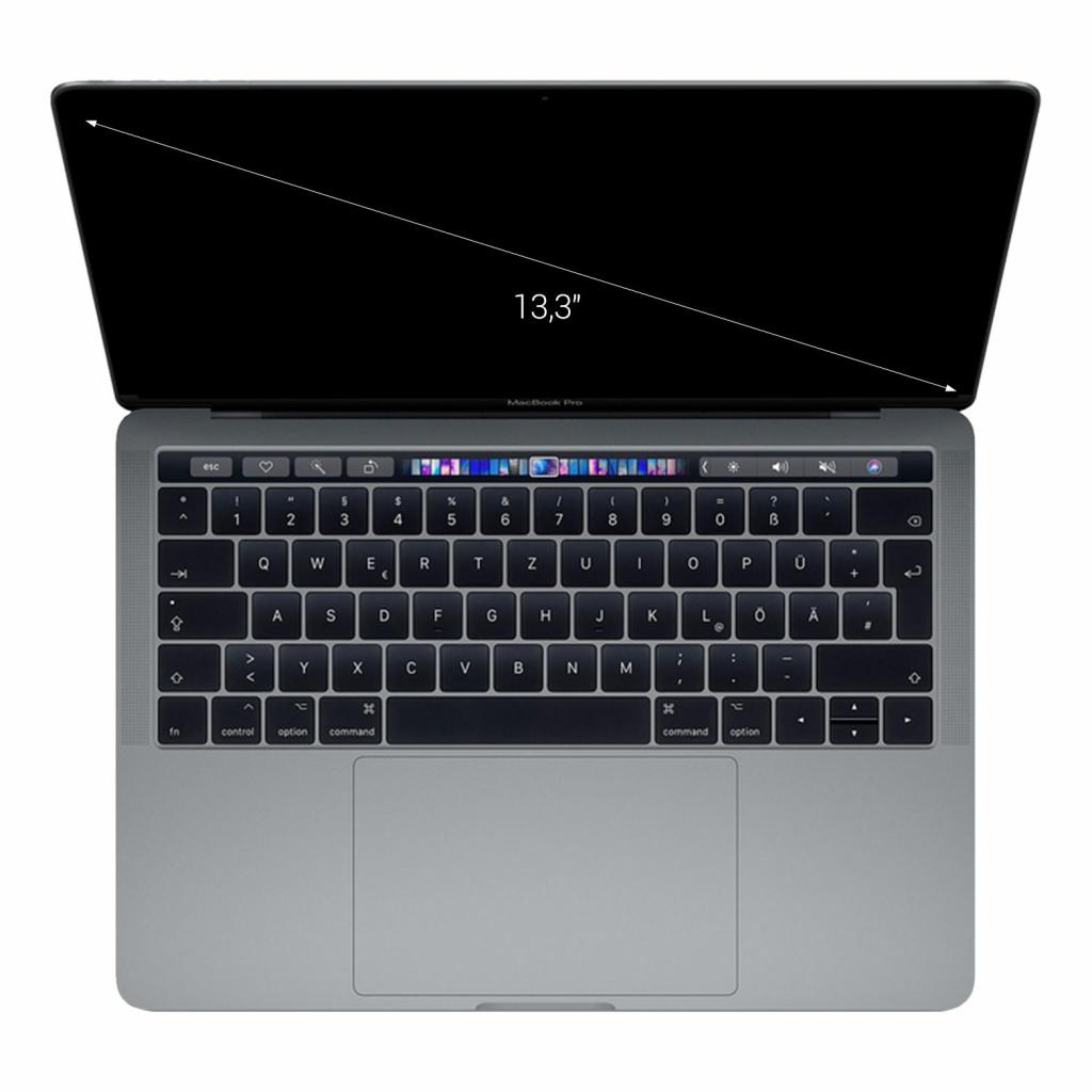 "Apple MacBook Pro 2018 13"" (QWERTZ) Touch Bar/ID Quad-Core Intel Core i5 2,30 GHz 256 GB SSD 8 GB gris espacial - muy bueno"