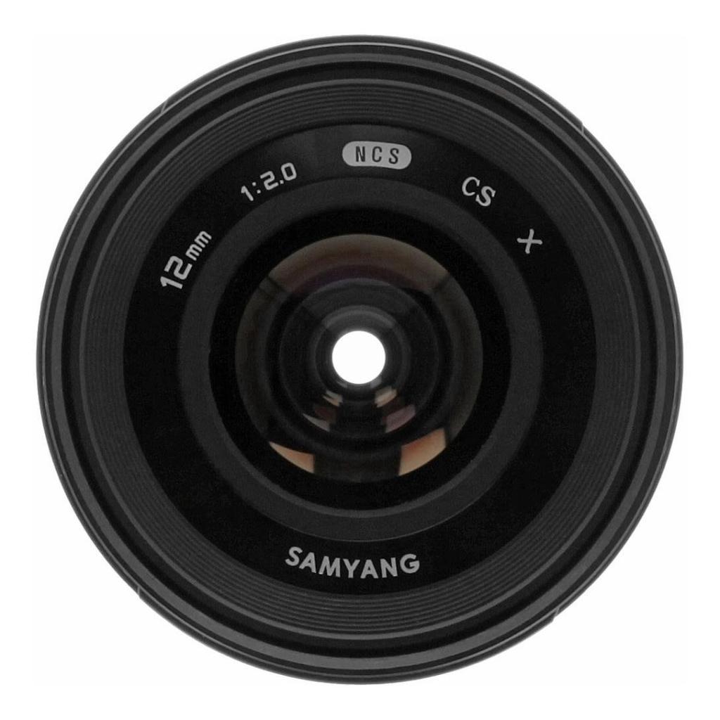Samyang 12mm 1:2.0 NCS CS para Fujifilm X negro - nuevo