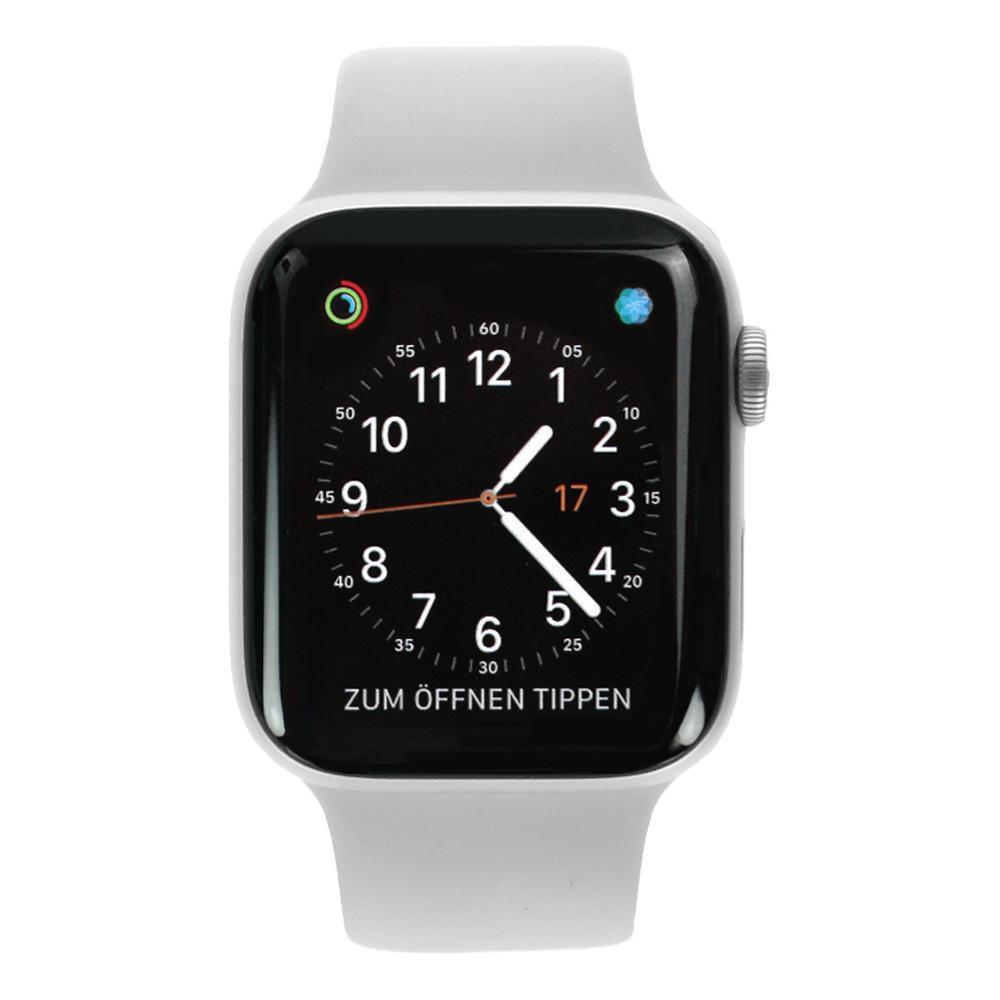 Apple Watch Series 4 - caja de aluminio en plata 44mm - correa deportiva blanca (GPS) - nuevo