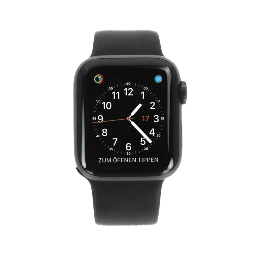 Apple Watch Series 4 - caja de aluminio en gris 40mm - correa Loop deportiva negra (GPS+Cellular) - nuevo