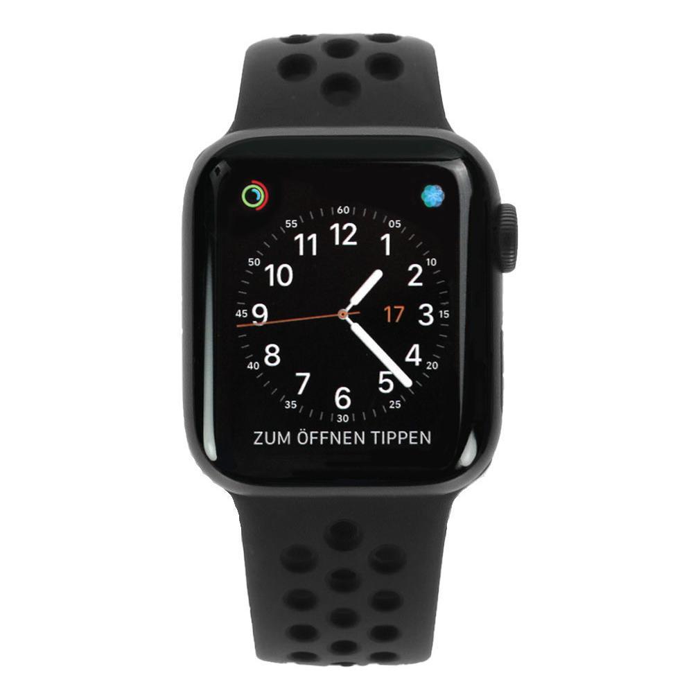 Apple Watch Series 4 Nike+ Aluminiumgehäuse grau 40mm mit Sportarmband schwarz (GPS+Cellular) aluminium grau - neu