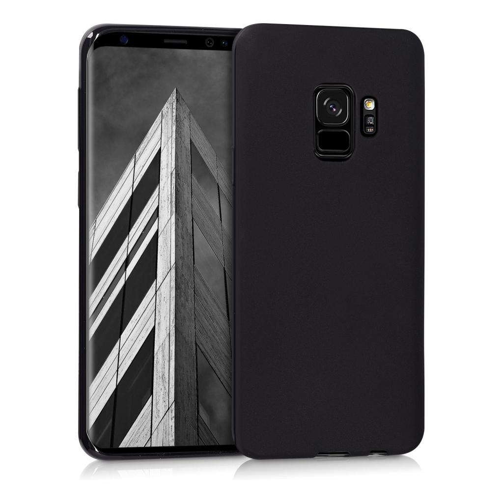 kwmobile Soft Case für Samsung Galaxy S9 (44089.47) schwarz matt - gut