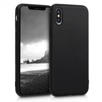 kwmobile Soft Case für Apple iPhone XS (46499.01) schwarz - gut