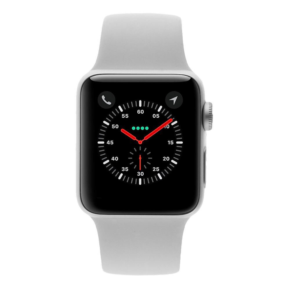 Apple Watch Series 3 - boîtier en aluminium argent 38mm - bracelet sport blanc (GPS) - Neuf
