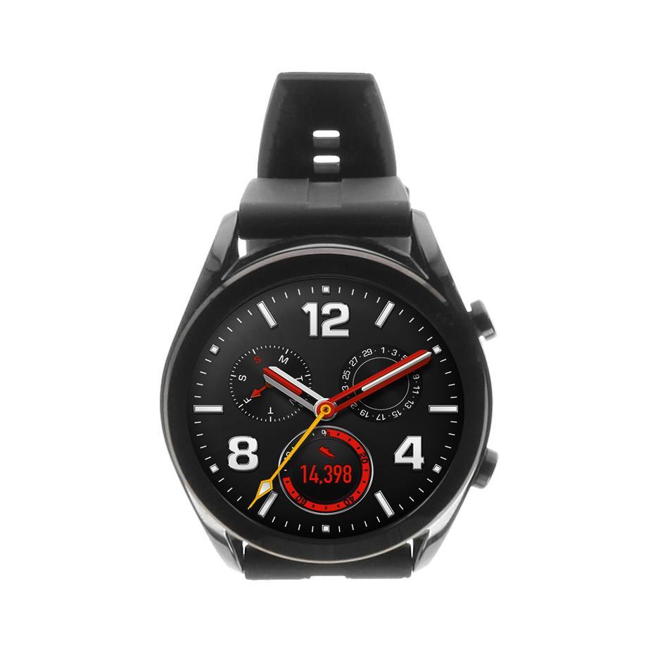 Huawei Watch GT Elegant schwarz mit Silikonarmband schwarz schwarz - neu