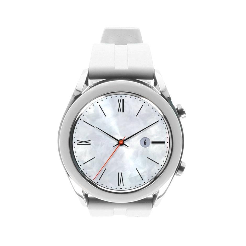 Huawei Watch GT Elegant silber mit Silikonarmband weiß weiß - neu