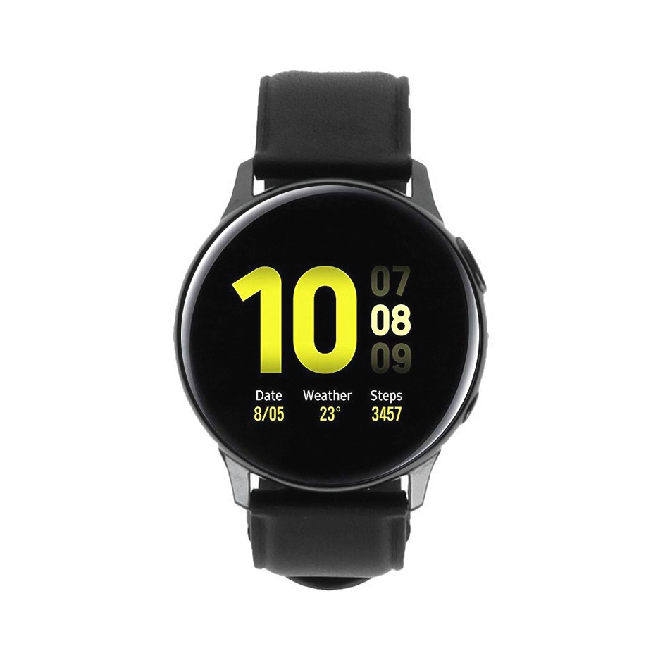 Samsung Galaxy Watch Active 2 40mm - acier inoxidable en noir LTE - Neuf
